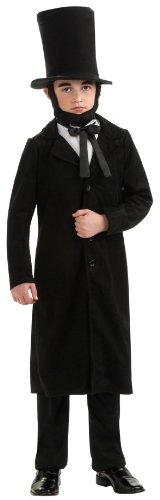 Rubie's Deluxe Abraham Lincoln Costume - Small (Size 4 to 6, Ages 3 to 4) by Rubie's Costume ()
