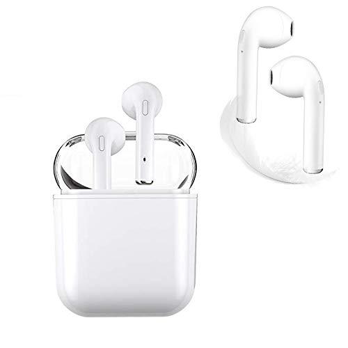 I8X Auriculares Bluetooth, Auriculares Inalámbricos Bluetooth, con HD Micrófono y Caja de Carga, Auriculares Intrauditivos para iPhone Samsung y Otros Teléfonos Inteligentes