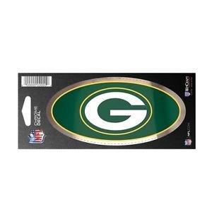 Green Bay Packers Offizieller NFL Aufkleber Chrom in 7,6 x 17,7 cm (Packers-aufkleber Green Bay)