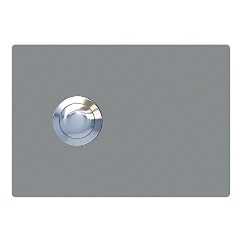 Klingeltaster, Design Klingel, Türklingel Edelstahl pulverbeschichtet Rectangle, grau metallic - Bravios -