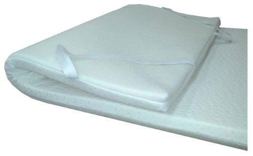 Dulces Sueños 71372 - Cubrecolchón viscoelástico 55 kg densidad/m³, núcleo de 4 cm, 190 x 135 cm
