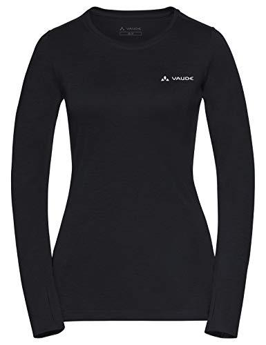 VAUDE Damen Women's Sveit LS Shirt T, Black Uni, 38 -