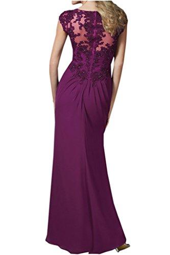 Promgirl House Damen Besser Chiffon Mermaid Abendkleider Ballkleider Brautmutterkleider Lang Spitze Schwarz