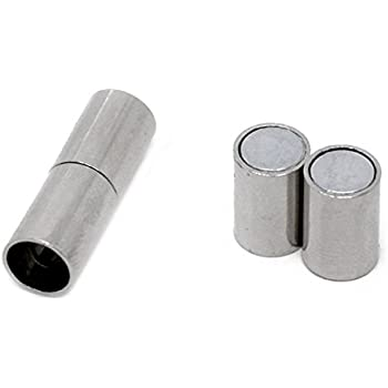 20Sets Silberfarbe Magnet Verschluss Verbinder Schmuckzubehör