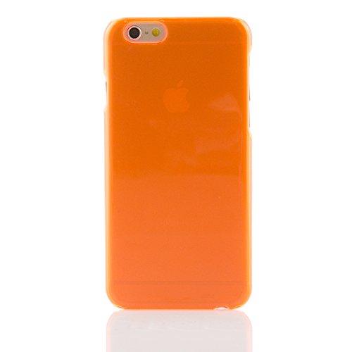 "iProtect Apple iPhone 6 (4,7"") Hülle Clear Crystal Hard Case Schutzhülle transparent orange Hardcase Transparent Orange"