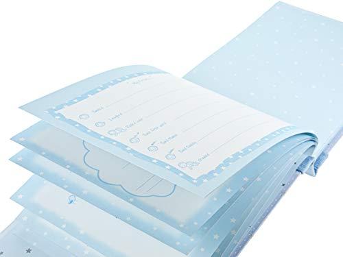 Mousehouse Gifts Baby Jungen Geschenk Verpackt Baby-Tagebücher Erinnerungsbuch Erinnerung Tagebuch Buch Album mit niedlichem Elefanten für Jungen - Text auf Englisch