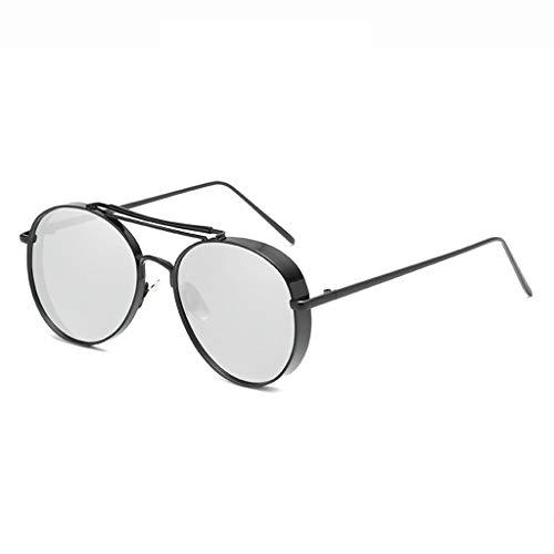 Sonnenbrille Dicke Kante Fahren Tourismus Einkaufen Kleidung Mode Persönlichkeit Blendschutz Sonnenschutz Metall Komfort Langlebig rutschfeste Männer Und Frauen Brille (Farbe: Schwarzer Rahm