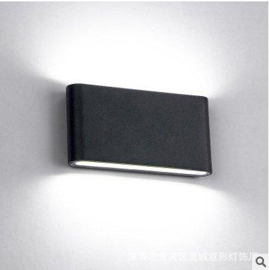 Lightess Lampada da Parete per Decorazione Illuminazione Esterna Interna Giardino Balcone Soggiorno Applique Impermeabile IP65 6W Bianco Caldo