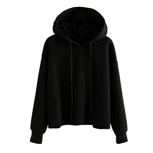 Winwintom Womens fashion blouse sweat à capuche à manches longues veste à capuche plus chemise de velours Noir