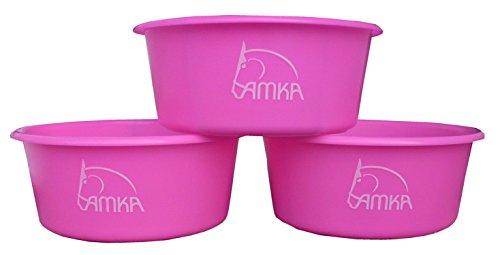 AMKA Cuenco para cereales Forro Carcasa 5l, sin tapa Juego de 3para animales, caballos, perros, color: verde