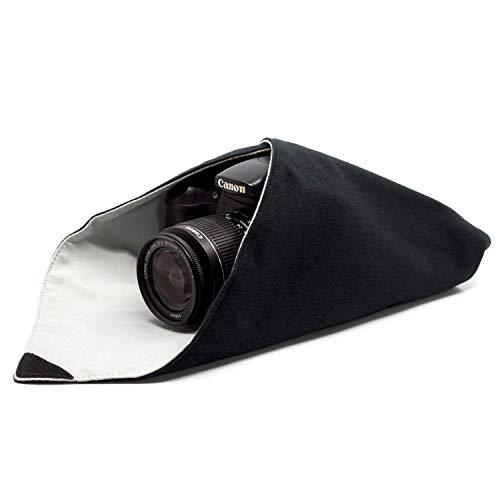 AmolithTM Einschlagtuch für Kamera als Schutzhülle für Fotoausrüstung im Rucksack, Tasche, Beutel etc. | Geeignet für DSLM/DSLR (mit Objektiv), Objektive, Tablet-PC etc. | M (40 x 40 cm) | AML-8780