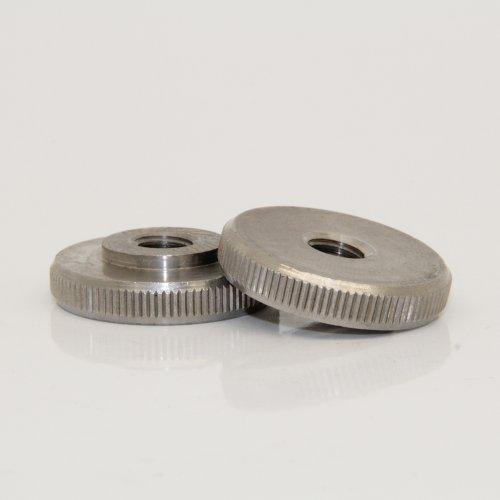 1 Stück Rändelmutter M6 niedr. Form DIN 467 Edelstahl A1