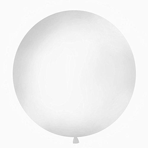 Simplydeko XXL Ballon 100cm | Riesenballon-Deko für Party, Garten und Hochzeit | Luftballons (Weiß) (Anzahl 100 Ballon)