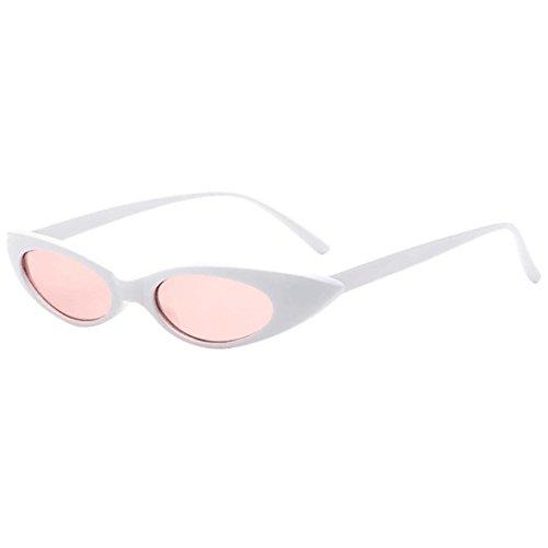 Brillen,Trada Retro Vintage Clut Katze Unisex Sonnenbrille Rapper Oval Shades Grunge Brille Valentinstagsgeschenk Outdoor-Brille für Frauen und Männer Lennon Mode Verspiegelt Sunglasses (F)