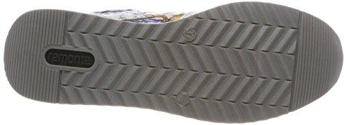 Remonte R7010, Scarpe da Ginnastica Basse Donna Multicolore (Ice/offwhite-metallic)