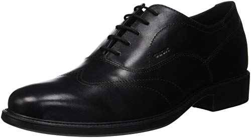Geox Uomo Carnaby A, Scarpe Stringate Oxford, Nero (Black C9999), 46 EU