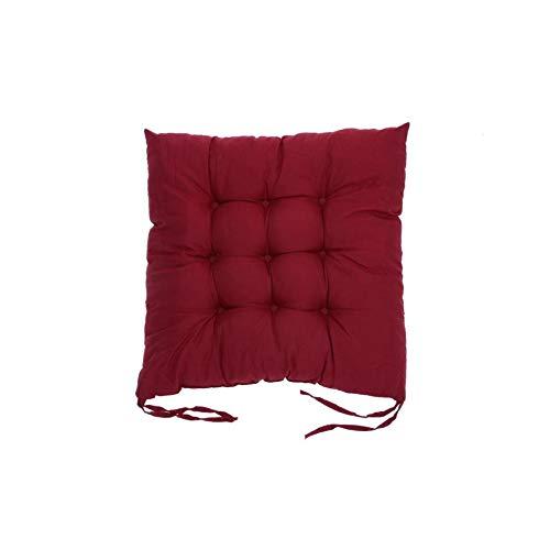 JobFine Chair cushions Sitzkissen Baumwolle Stuhl zurück Sitzkissen Sofa Kissen Bequeme Sitzkissen Wohnkultur, weinrot -