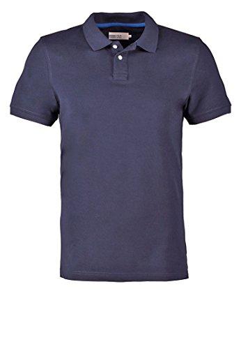 PIER ONE Poloshirt Herren in Dunkleblau, Größe XXL (Weiße-kragen-polo-t-shirt)