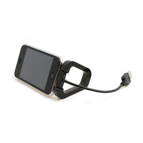 System-S 15cm USB Datenkabel LadeKabel Kurzkabel mit Tischständer Ständer für Apple iPhone Calssic 3G 3GS 4 iPod Touch 1G 2G 3G 4G 1g Ipod Touch