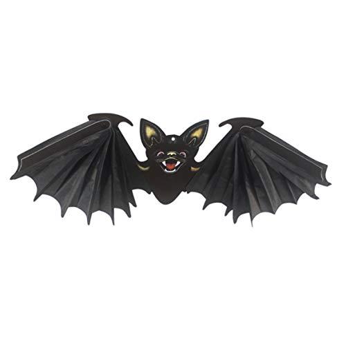 Kongqiabona Halloween Dekoration DIY Papier Doppelseitige Falten Black Bat Atmosphäre Anhänger für Outdoor Indoor Schule Bar - Outdoor-diy Halloween-dekoration