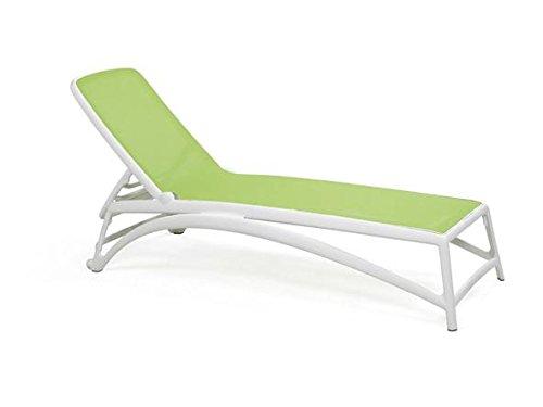 Sonnenliege Gartenliege Relaxliege Wellnessliege Gartenmöbel stapelbar Lounge, Farbe:Gestell...
