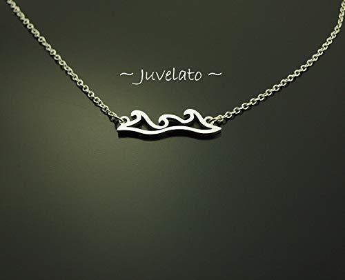 Kette Welle Wasser Anhänger silbern Juvelato