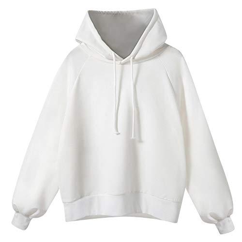 1483848d5d8101 GreatestPAK Lantern Sleeve Sweater, Damen Frauen Langarm-Kapuzen-Sweatshirts  lose dünne Bluse