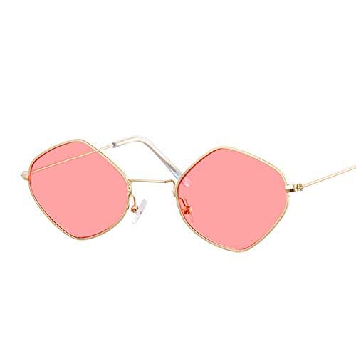 Sonnenbrille Platz Vintage Sonnenbrille Frauen Ocean Farbe Objektiv Spiegel Sonnenbrille Weiblich Gold Rot Fashion Design Mit Kleinem Rahmen Gläser Uv 400