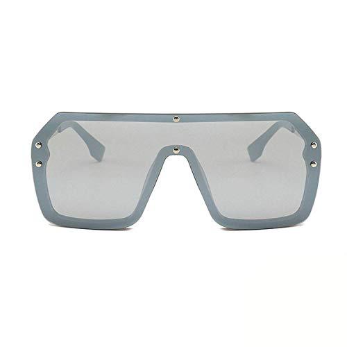 enbrille, Oversized Shield Visor Sunglasses Women Large Size Sunglasses Men Transparent Frame Vintage Big Windproof Retro Glasses ()