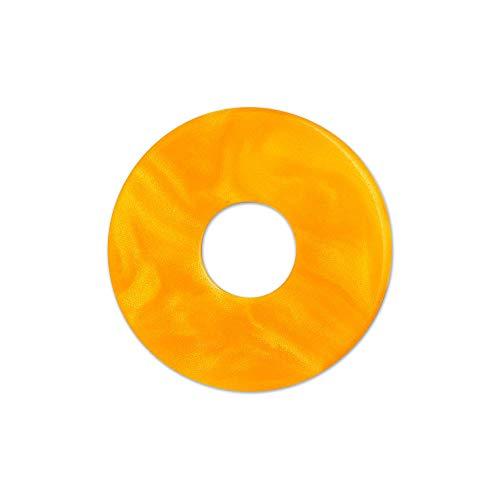 RING DING, Scheibe, Scheibe Aquarell acryl 22mm orange - Orange Aquarell