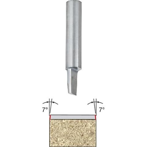Freud 68–100sola flauta Flush y bisel 7-degree Trim Router Bit con 1/4filo por Freud