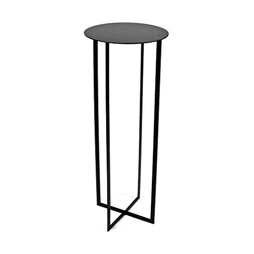 toupatou-green, table ou portapiante pour le vert de maison, réalisé en fer verni à poussières Noir. GREEN 90 - Large cm 35xh90 noir