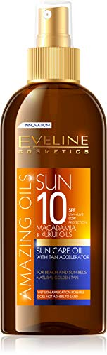 150 Ml Sun Care (Eveline, Öl mit Bräunungsbeschleuniger, SPF10, 150 ml, SUN Bronze)