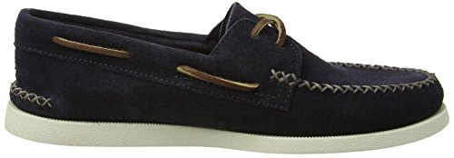 Sperry Top-Sider A/O 2-Eye Wedge Suede, Chaussures Bateau Homme Bleu (Navy)