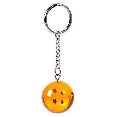 Llavero Netronic, acrílico, 2,7 cm, diseño de estrellas de Dragon Ball Z, 4 stars