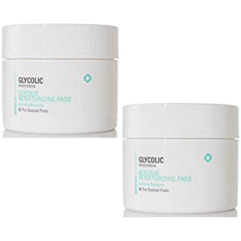 Serious Skincare Glycolic 2PK Retexturizing Pads - 60 Pre-soaked Pads (each container) by Serious Skin (Pre Soaked Pad)