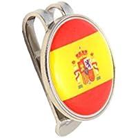 Mercia - Gorro magnético de golf con bandera de España marcador de bolas.