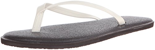 Sanuk Womens Yoga Bliss Flip Flop Ivoire