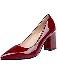 Zapatos de tacón cuadrado de moda para mujeres de