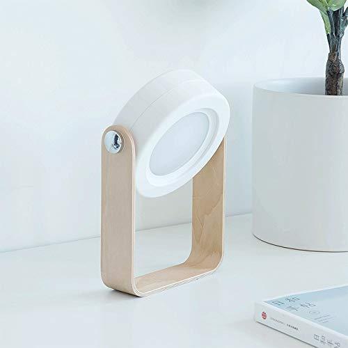 New Creative Wooden Handle Portable Lantern Lamp Telescopic Folding Table Lamp Charging Night Light Reading Lamp