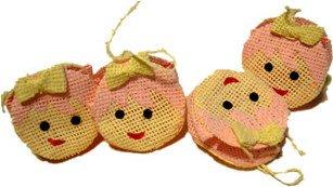 Beutel a Form von Smilie, Gastgeschenk für Geburt und Taufe Basteln (Peppa Pig Kostüm Spiele)