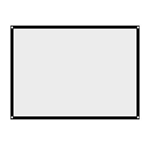 VBESTLIFE 60 Zoll -100 Zoll Leinwand,Portable Faltbare Nicht Falten Weiß Projektor Projektionsfläche 4: 3 Vorhang, für HD Full HD, Heimkino, Klassenzimmer, Konferenz, Präsentation(84 Zoll)