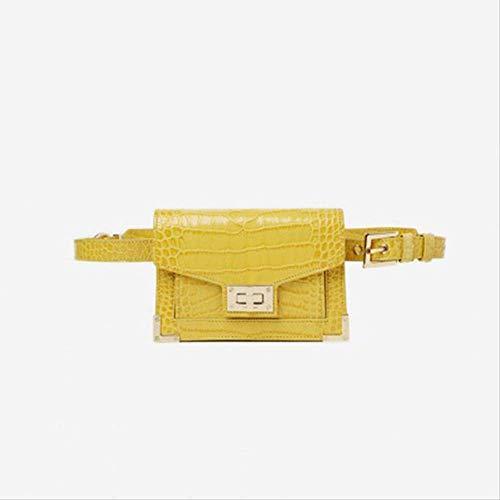 Xshiyq Damen gürteltasche krokodil gürtel Handtasche pu Leder Vintage Strap Kette Taschen für eine größe Gold -