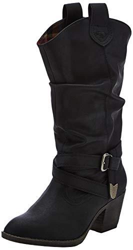 Rocket DogSidestep - Stivali da Motociclista Donna, Nero (Black (Black)), 38