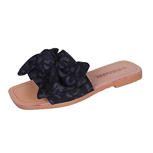❤Loveso❤ Damen Sommer Sandalen Flache Sandaletten Peep Toe Wildleder Strand Hausschuhe Sommerschuhe Bequeme Modern Damen Sandalen Pantoletten Peep-toe Polka Dot-slingback
