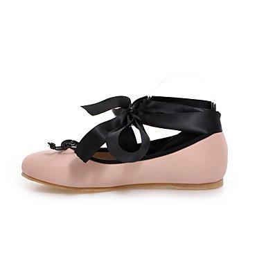 Confortevole ed elegante piatto scarpe donna Appartamenti Primavera Estate Autunno Ballerina PU Abbigliamento Sportivo tacco piatto Bowknot Lace-up nero rosa Leopard Pink