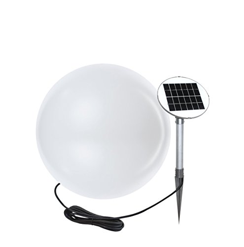 8 seasons design | Garten LED Solar Kugelleuchte Shining Globe (Ø 40 cm, warmweiß, Solarmodul, IP44, witterungsfest, Solarleuchte Kugel Outdoor) weiß