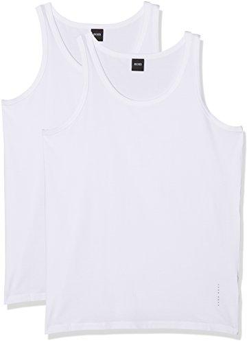BOSS Hugo Boss Herren Unterhemd Weiß (White 100)