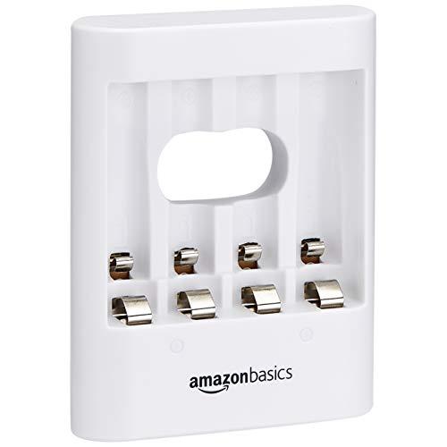 Oferta de Amazon Basics - Cargador de pilas USB, color blanco