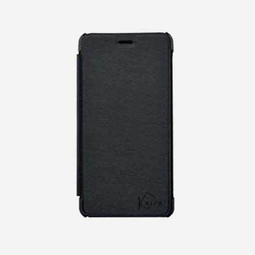 Kaira Premium Quality Flip Case Cover for Lava Iris X1 Selfie (Black)